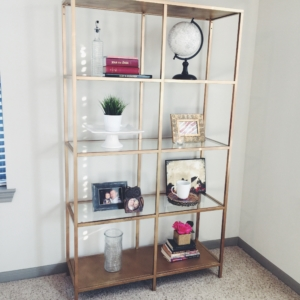 Honey DIY – Gold Shelves