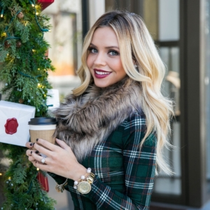 Holiday Plaid Plus A Fluffy Scarf