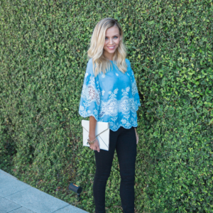 Lace Smock Top