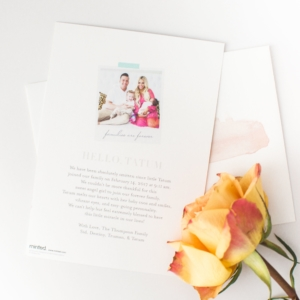 Tatum's Birth Announcements With Minted