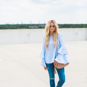 Blue Ruffle Top + Truly Destiny Revamp